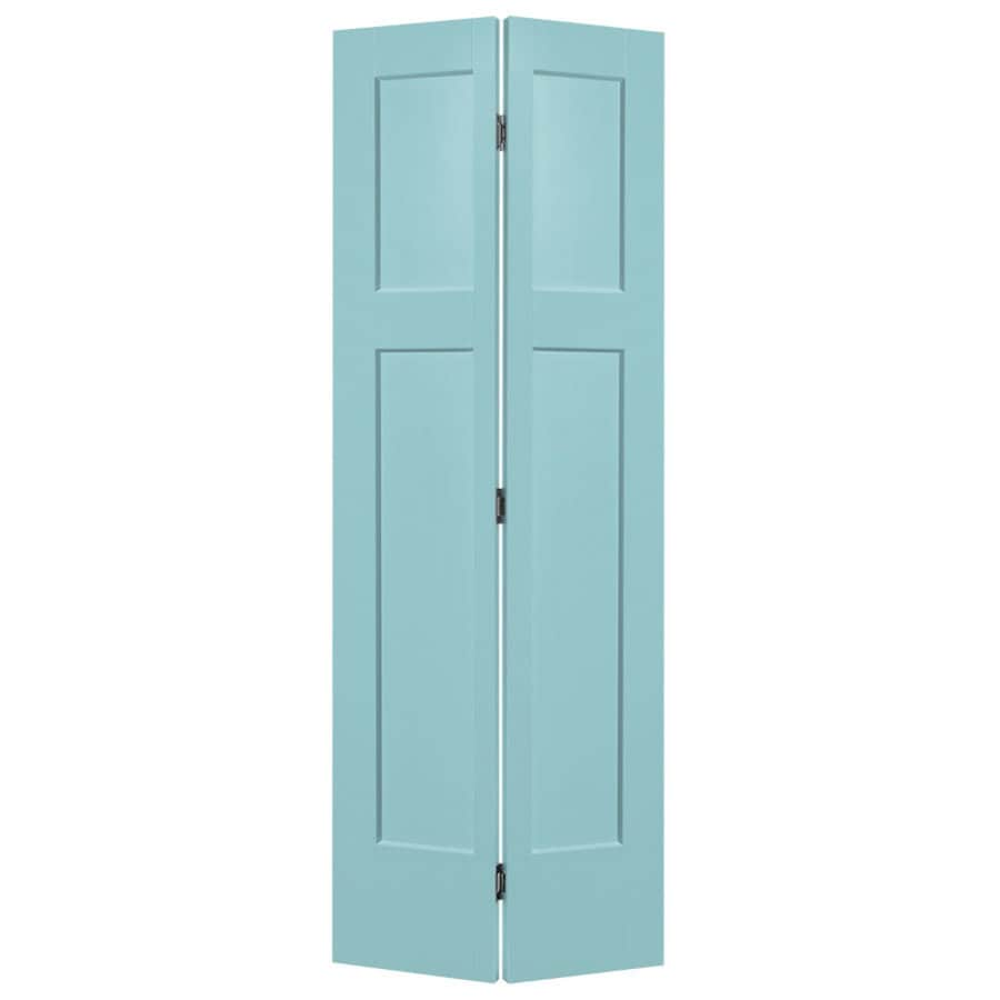 Masonite Heritage Sea Mist Hollow Core Molded Composite Bi-Fold Closet Interior Door with Hardware (Common: 24-in x 80-in; Actual: 23.5-in x 79-in)