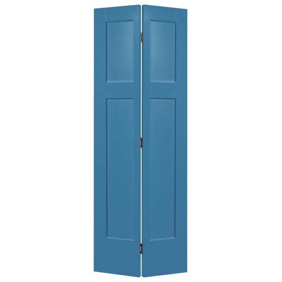 Masonite Winslow Blue Heron Hollow Core 3-Panel Craftsman Bi-Fold Closet Interior Door (Common: 24-in x 80-in; Actual: 25.5-in x 81.5-in)