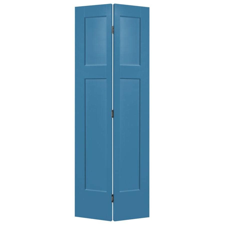 Masonite Winslow Blue Heron 3-panel Craftsman Bi-fold Closet Interior Door (Common: 30-in X 80-in; Actual: 31.5-in x 81.5-in)