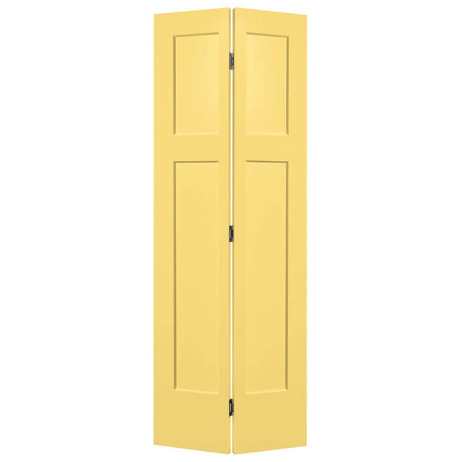 Shop Masonite Winslow Marigold 3 Panel Craftsman Bi Fold Closet Interior Door Common 24 In X