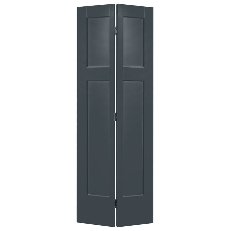 Masonite Winslow Slate Hollow Core 3-Panel Craftsman Bi-Fold Closet Interior Door (Common: 36-in x 80-in; Actual: 37.5-in x 81.5-in)