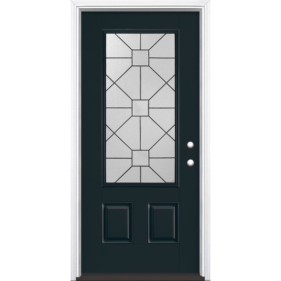 Shop masonite hancock 2 panel insulating core 3 4 lite for Masonite exterior doors