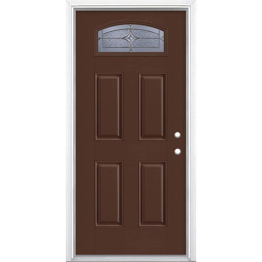 Shop masonite astrid 4 panel insulating core morelight for Exterior door insulation
