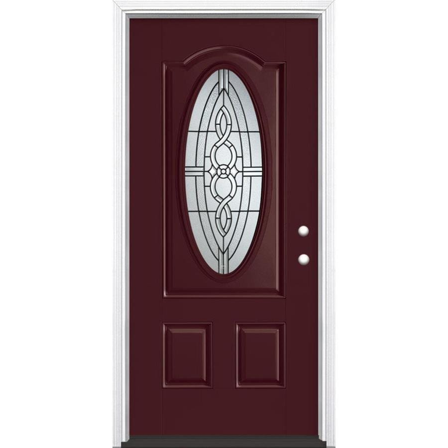 Shop masonite calista decorative glass left hand inswing for Decorative glass for entry doors