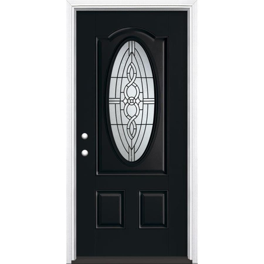 Shop masonite calista decorative glass right hand inswing masonite calista decorative glass right hand inswing peppercorn painted fiberglass prehung entry door with insulating rubansaba