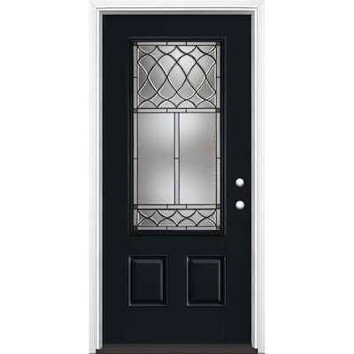 Black Front Doors At Lowes Com One of the most important doors for your home, it boosts curb appeal and creates a first impression for visitors or anyone driving by. black front doors at lowes com