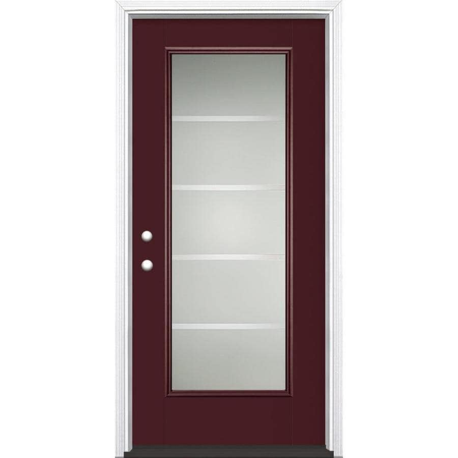 Shop masonite crosslines decorative glass right hand for Decorative glass for entry doors