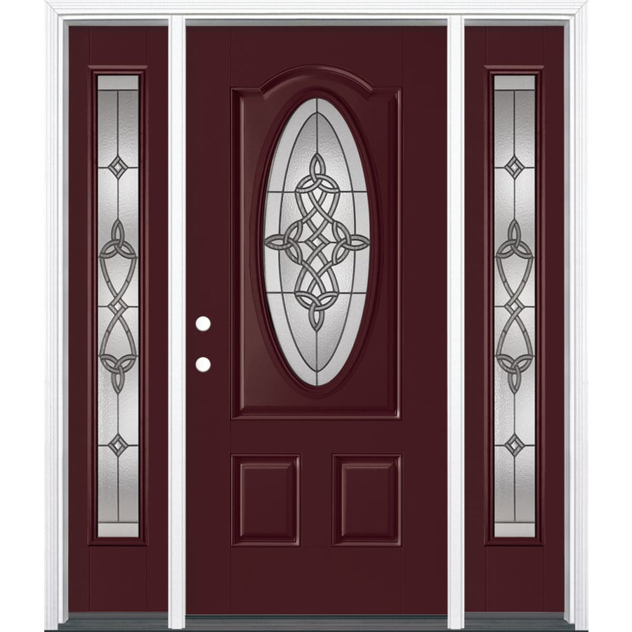 Shop masonite dylan oval lite decorative glass right hand for Decorative glass for entry doors
