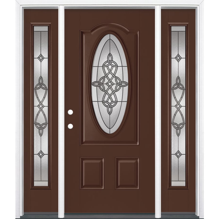 Insulation For Front Door: Shop Masonite Dylan Decorative Glass Right-Hand Inswing