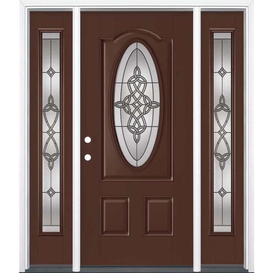 Masonite Dylan Oval Lite Decorative Glass Right Hand