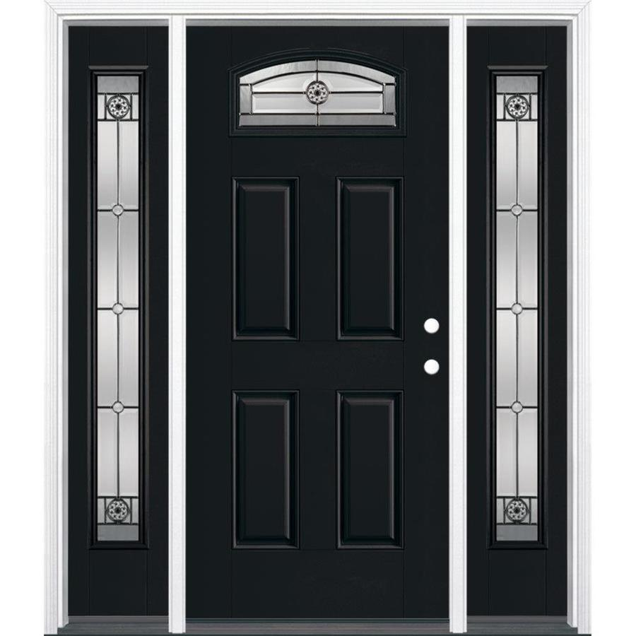 Shop masonite decorative glass left hand inswing for Decorative glass entry door