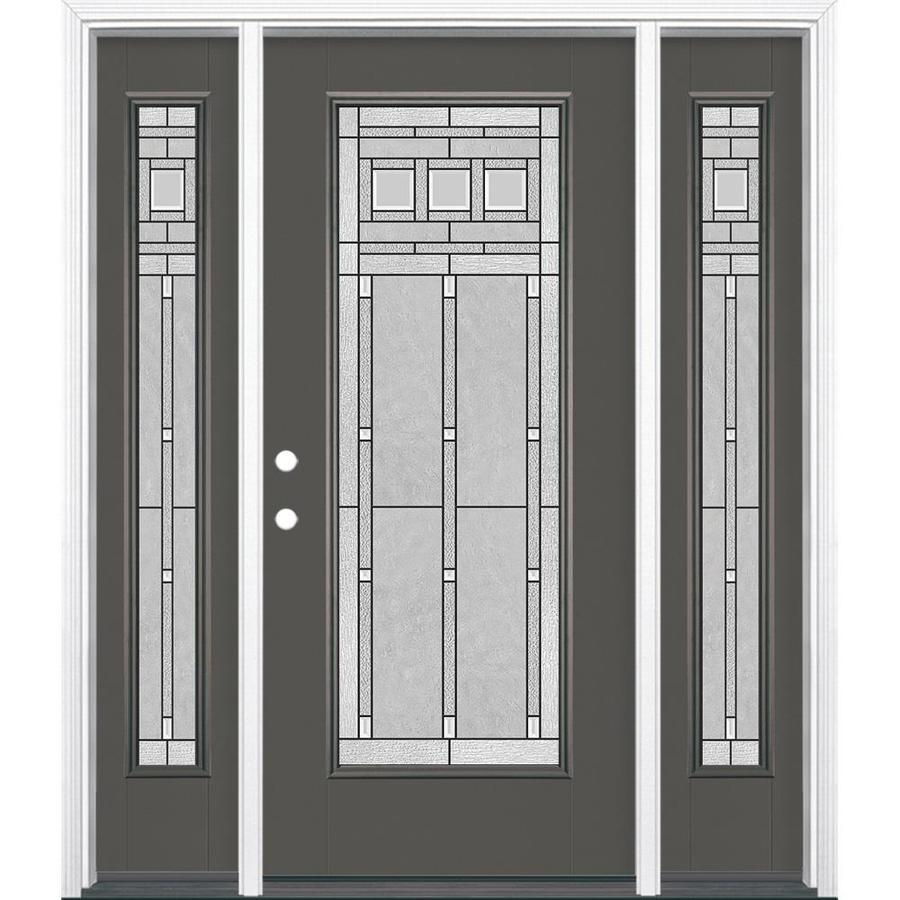Shop masonite craftsman decorative glass right hand for Exterior fiberglass doors