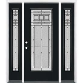 Wonderful Masonite Craftsman Decorative Glass Painted Fiberglass Prehung Entry Door  With Insulating Core (Common: 64