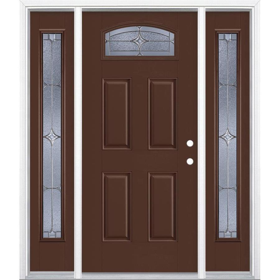 Shop masonite astrid decorative glass left hand inswing for Decorative glass for entry doors