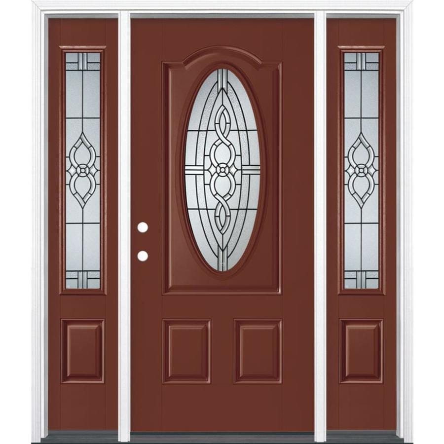 Shop masonite calista decorative glass right hand inswing for Decorative entrance doors