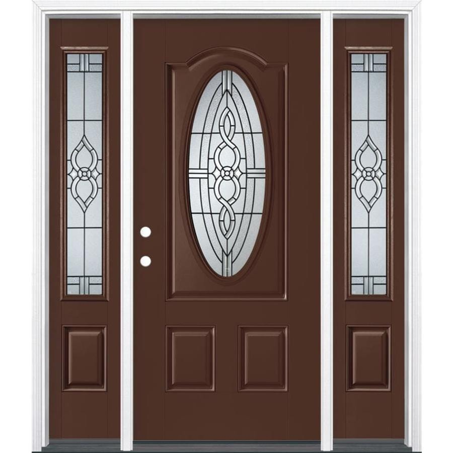 Masonite Calista Oval Lite Decorative Glass Right Hand