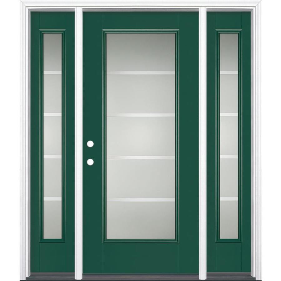 Decorative Glazing In Doors : Shop masonite crosslines decorative glass right hand