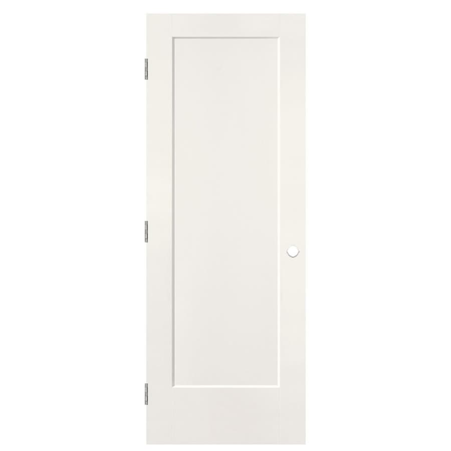 Masonite Lincoln Park Snow Storm 1-panel Single Prehung Interior Door (Common: 24-in X 80-in; Actual: 25.5-in x 81.5-in)