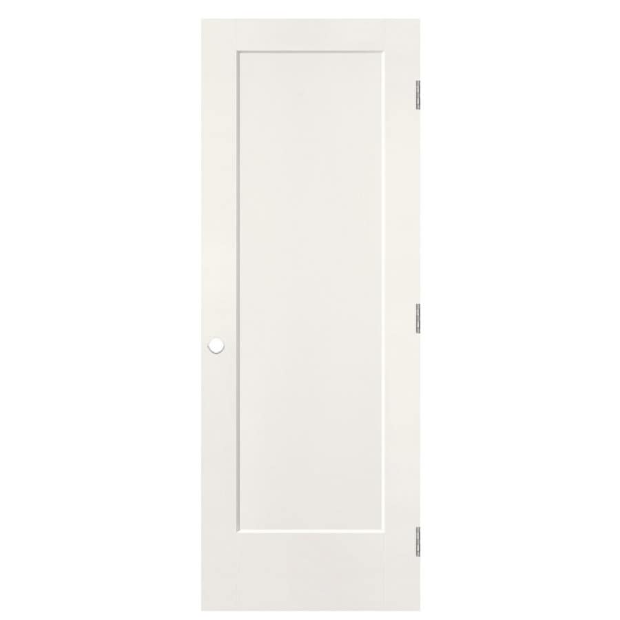 Shop masonite lincoln park snow storm 1 panel sliding for Sliding panel doors interior