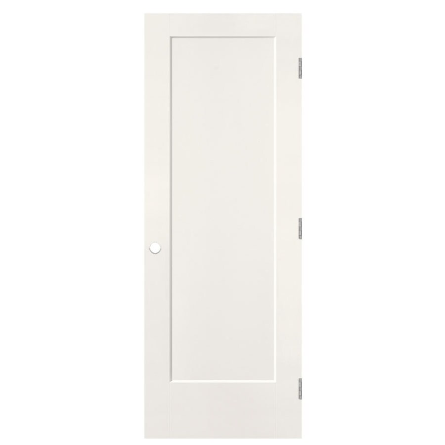 Masonite Lincoln Park Snow Storm 1-panel Single Prehung Interior Door (Common: 28-in x 80-in; Actual: 29.5-in x 81.5-in)