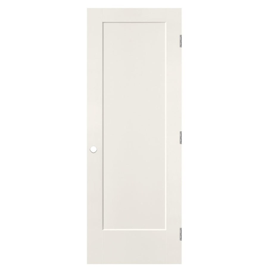 Masonite Lincoln Park White 1-panel Single Prehung Interior Door (Common: 28-in X 80-in; Actual: 29.5-in x 81.5-in)
