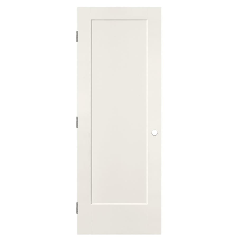 Shop Masonite Lincoln Park White 1 Panel Single Prehung Interior Door Common 32 In X 80 In