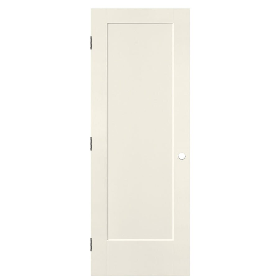 Masonite Lincoln Park Moonglow Prehung Hollow Core 1-Panel Interior Door (Common: 24-in x 80-in; Actual: 25.5-in x 81.5-in)