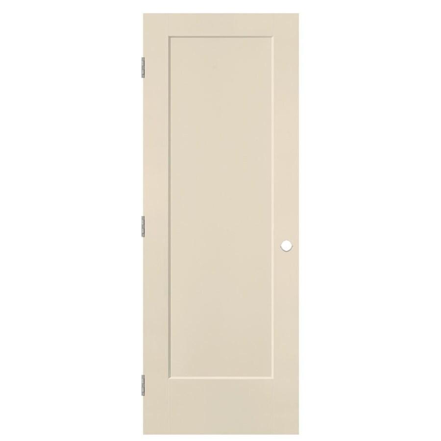 Masonite Lincoln Park Cream-n-sugar 1-panel Single Prehung Interior Door (Common: 30-in X 80-in; Actual: 31.5-in x 81.5-in)