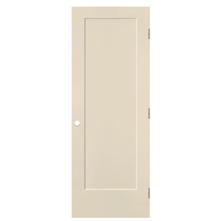 Masonite Lincoln Park Cream-N-Sugar Hollow Core Molded Composite Single Prehung Interior Door with Hardware (Common: 30-in x 80-in; Actual: 31.5-in x 81.5-in)