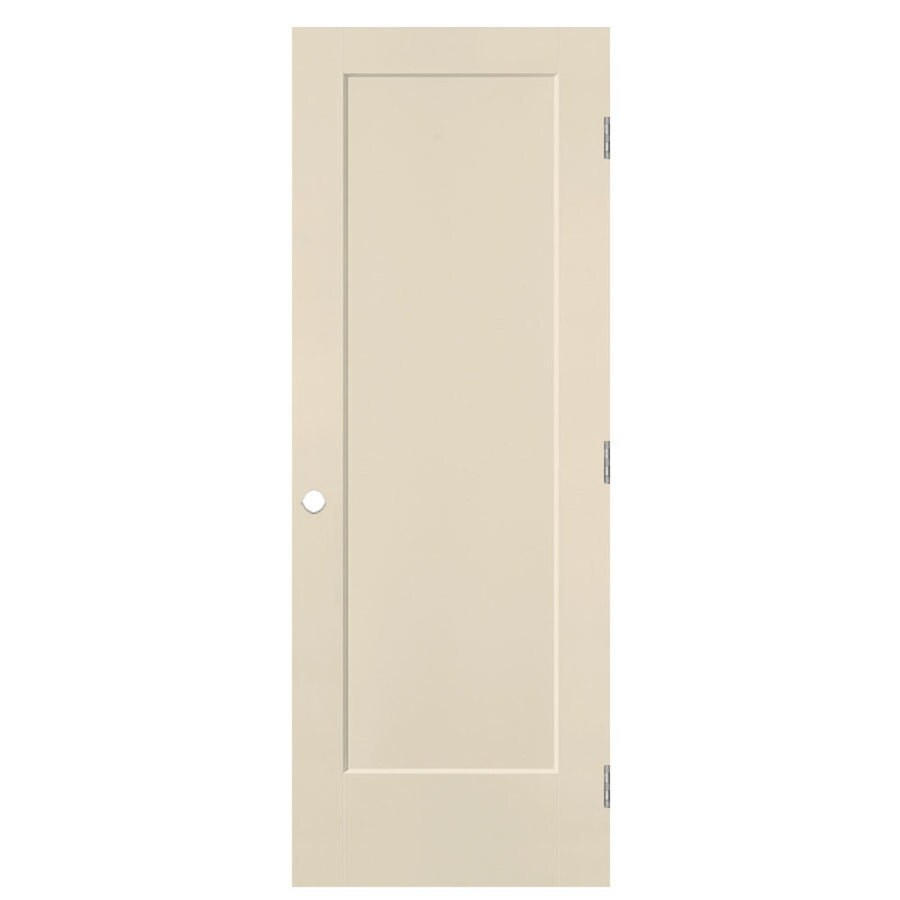 Masonite Lincoln Park Cream-n-sugar 1-panel Single Prehung Interior Door (Common: 32-in X 80-in; Actual: 33.5-in x 81.5-in)