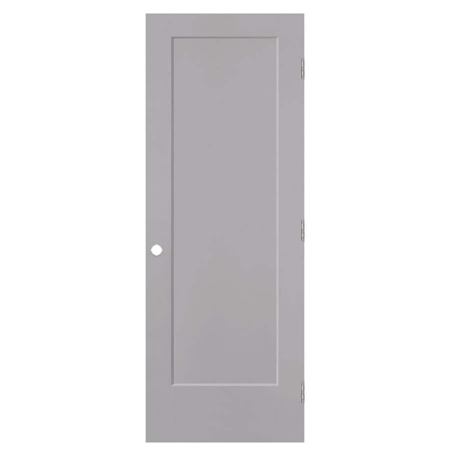 Masonite Lincoln Park Driftwood 1-panel Single Prehung Interior Door (Common: 24-in X 80-in; Actual: 25.5-in x 81.5-in)