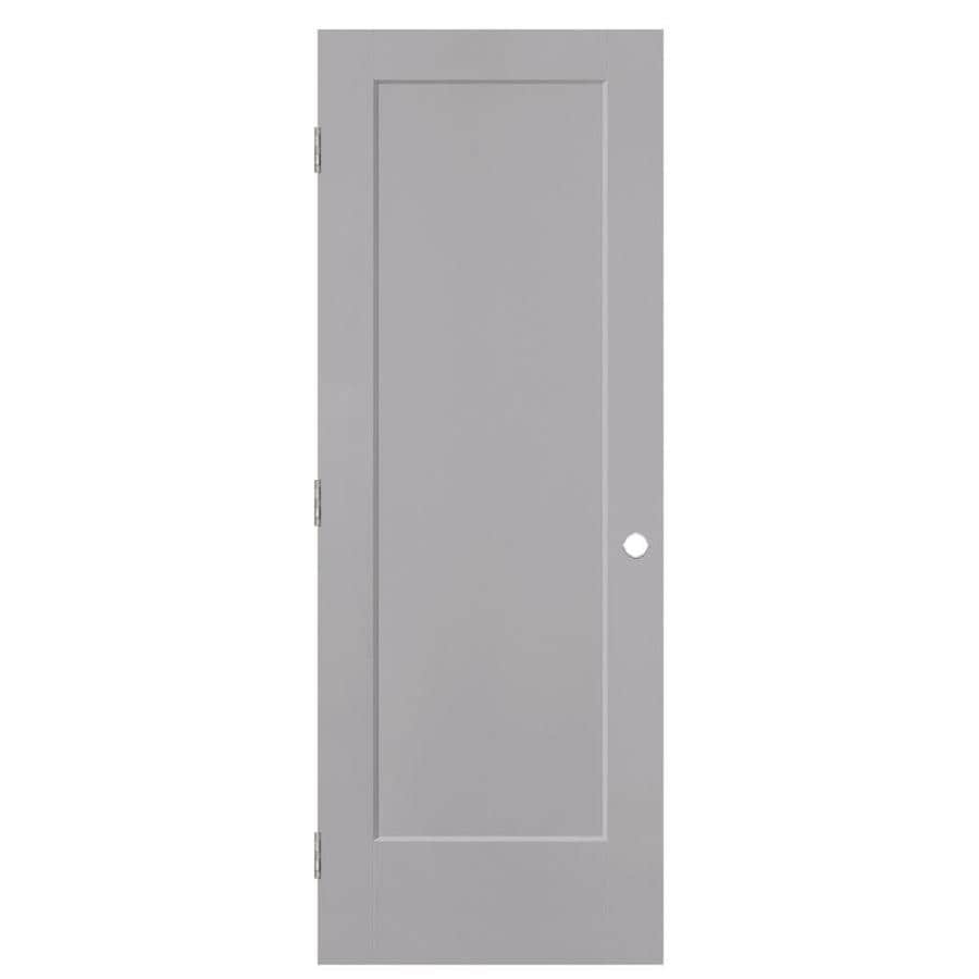 Masonite Lincoln Park Drift Molded Composite Interior Door with Hardware (Common: 28-in x 80-in; Actual: 29.5-in x 81.5-in)