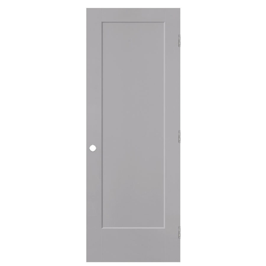 Masonite Lincoln Park Driftwood 1-panel Single Prehung Interior Door (Common: 28-in X 80-in; Actual: 29.5-in x 81.5-in)