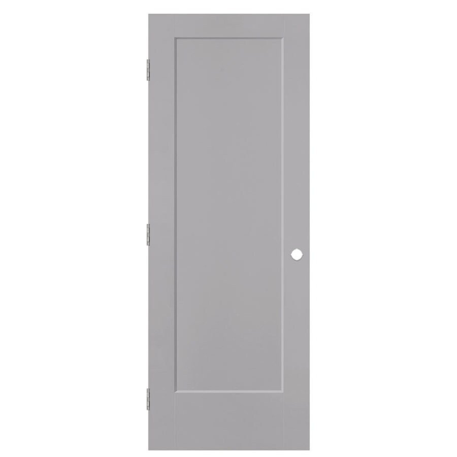 Masonite Lincoln Park Drift Hollow Core Molded Composite Single Prehung Interior Door with Hardware (Common: 32-in x 80-in; Actual: 33.5-in x 81.5-in)