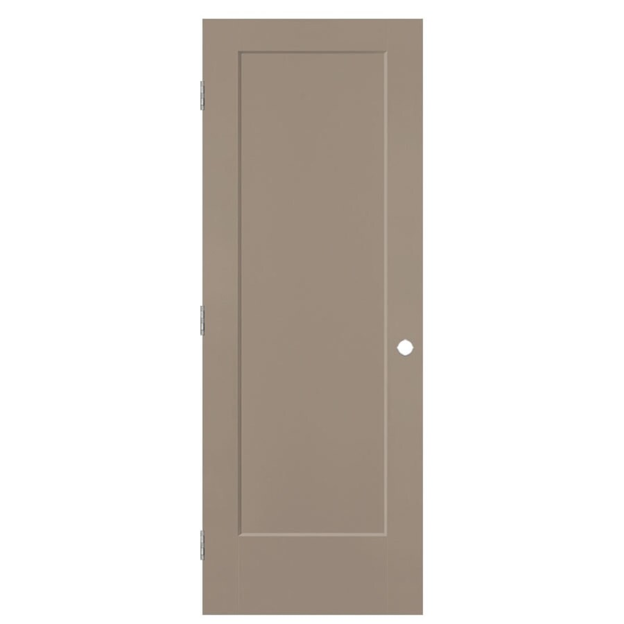 Masonite Lincoln Park Sand Piper Hollow Core Molded Composite Single Prehung Interior Door with Hardware (Common: 28-in x 80-in; Actual: 29.5-in x 81.5-in)