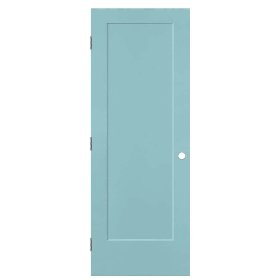 Masonite Lincoln Park Sea Mist 1-panel Single Prehung Interior Door (Common: 30-in X 80-in; Actual: 31.5-in x 81.5-in)