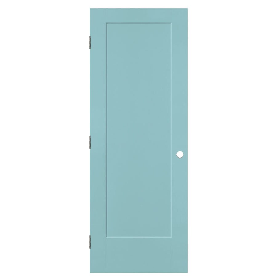Masonite Lincoln Park Sea Mist Hollow Core Molded Composite Single Prehung Interior Door with Hardware (Common: 32-in x 80-in; Actual: 33.5-in x 81.5-in)