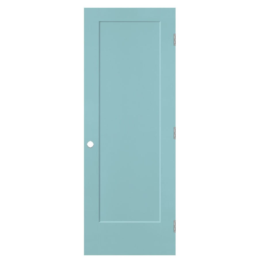 Masonite Lincoln Park Sea Mist 1-panel Single Prehung Interior Door (Common: 36-in X 80-in; Actual: 37.5-in x 81.5-in)