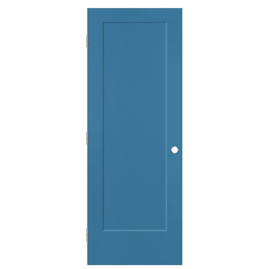 Masonite Lincoln Park Blue Heron 1-panel Single Prehung Interior Door (Common: 24-in x 80-in; Actual: 25.5-in x 81.5-in)