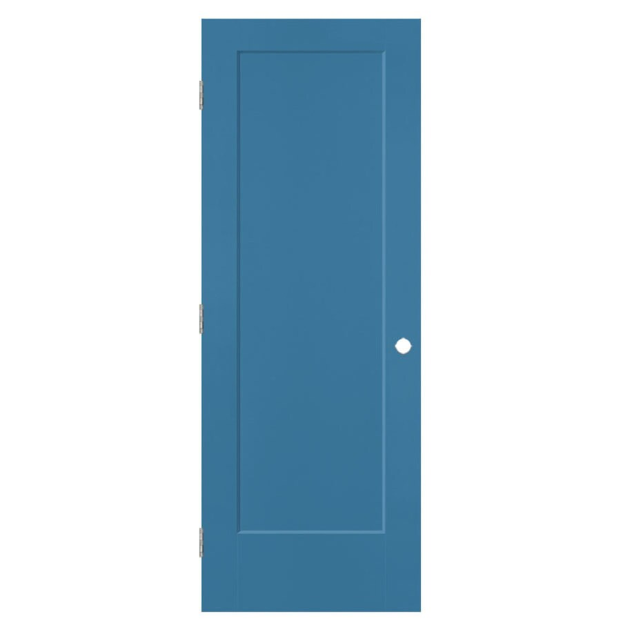 Masonite Lincoln Park Blue Heron 1-panel Single Prehung Interior Door (Common: 28-in x 80-in; Actual: 29.5-in x 81.5-in)