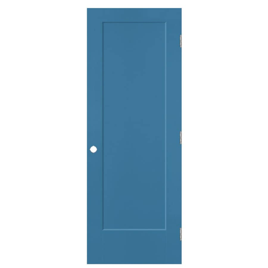 Masonite Lincoln Park Blue Heron Hollow Core Molded Composite Single Prehung Interior Door with Hardware (Common: 30-in x 80-in; Actual: 31.5-in x 81.5-in)
