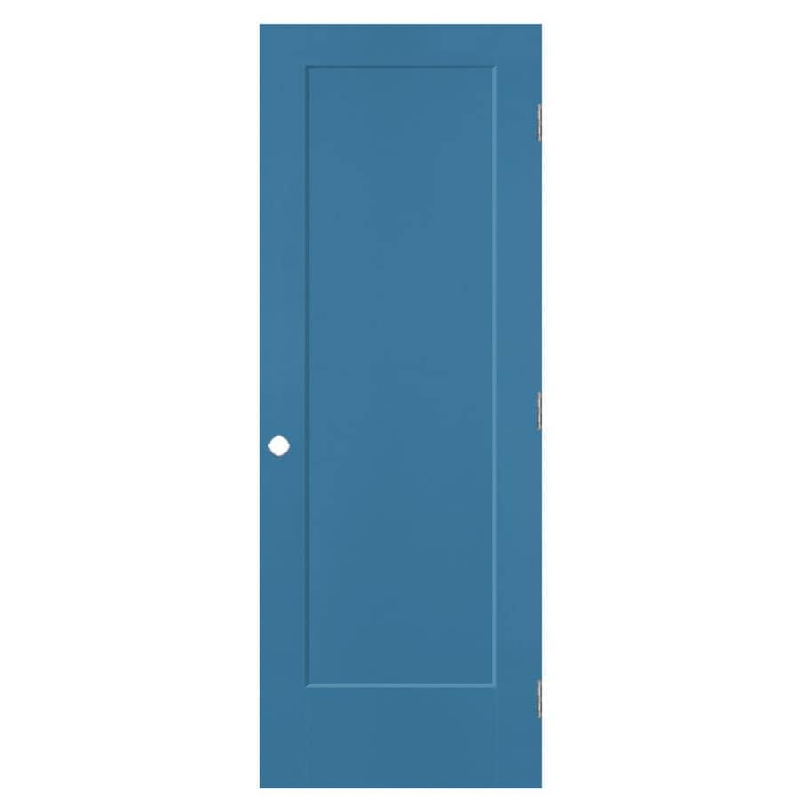 Masonite Lincoln Park Blue Heron 1-panel Single Prehung Interior Door (Common: 32-in x 80-in; Actual: 33.5-in x 81.5-in)