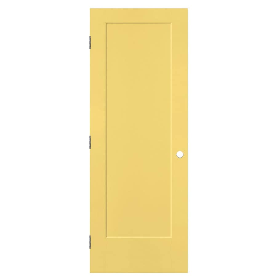 Masonite Lincoln Park Marigold Hollow Core Molded Composite Single Prehung Interior Door with Hardware (Common: 28-in x 80-in; Actual: 29.5-in x 81.5-in)