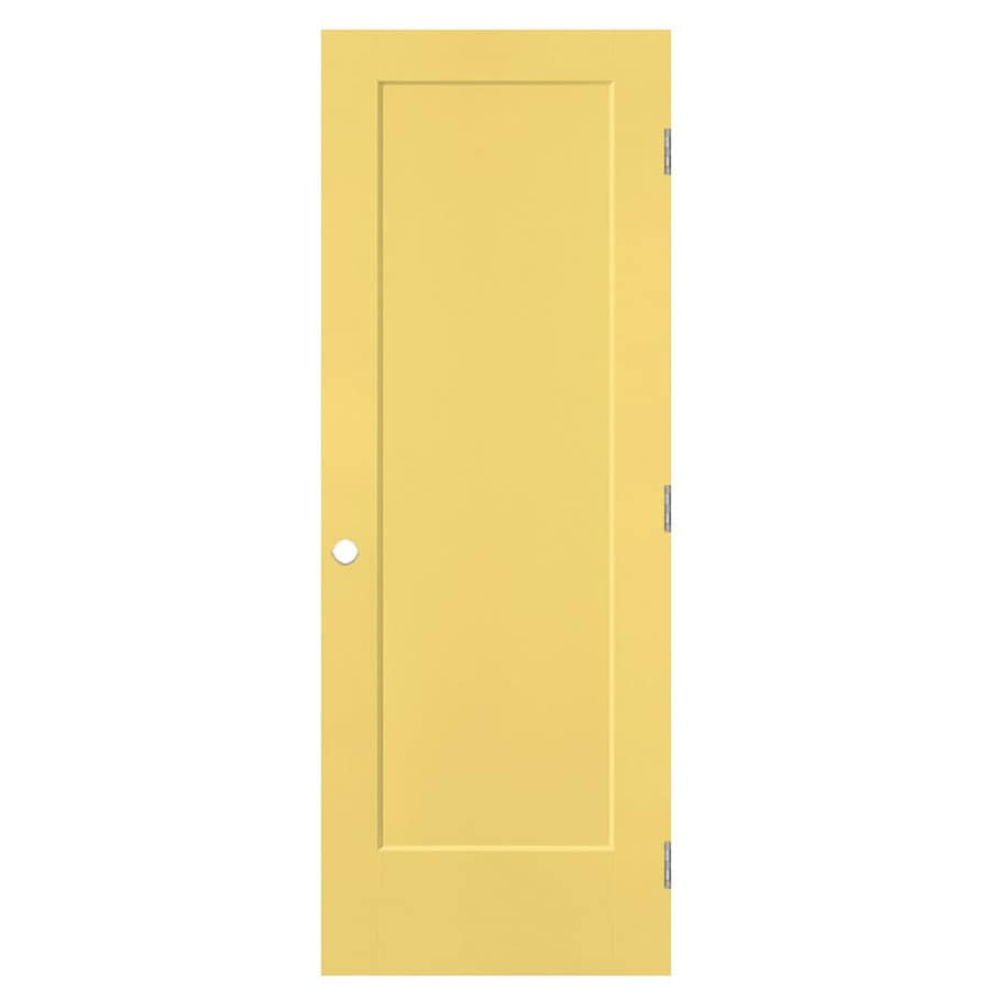 Masonite Lincoln Park Marigold 1-panel Single Prehung Interior Door (Common: 28-in x 80-in; Actual: 29.5-in x 81.5-in)