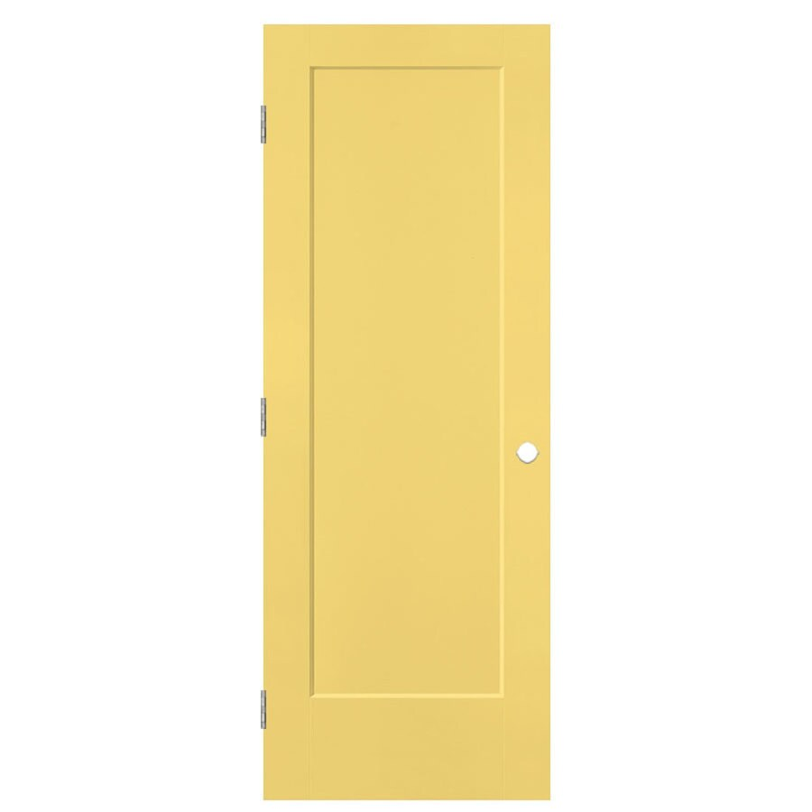 Masonite Lincoln Park Marigold 1-panel Single Prehung Interior Door (Common: 32-in x 80-in; Actual: 33.5-in x 81.5-in)