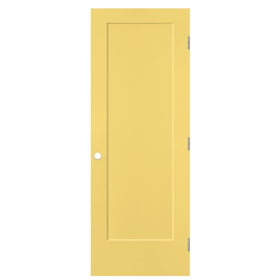 Shop masonite lincoln park marigold 1 panel sliding closet for Sliding panel doors interior