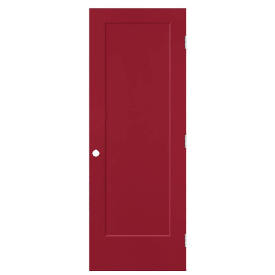 Masonite Lincoln Park Barn Red 1-panel Single Prehung Interior Door (Common: 28-in X 80-in; Actual: 29.5-in x 81.5-in)