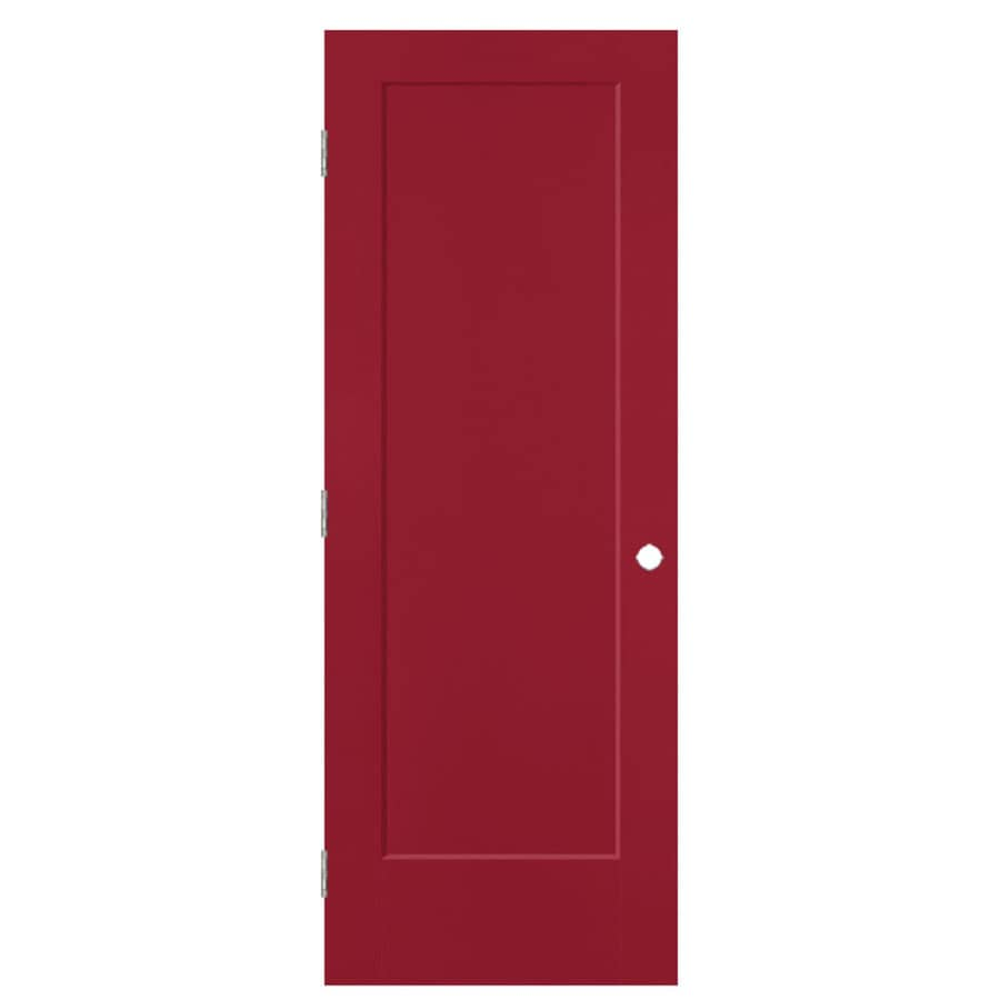 Masonite Lincoln Park Barn Red 1-panel Single Prehung Interior Door (Common: 30-in x 80-in; Actual: 31.5-in x 81.5-in)