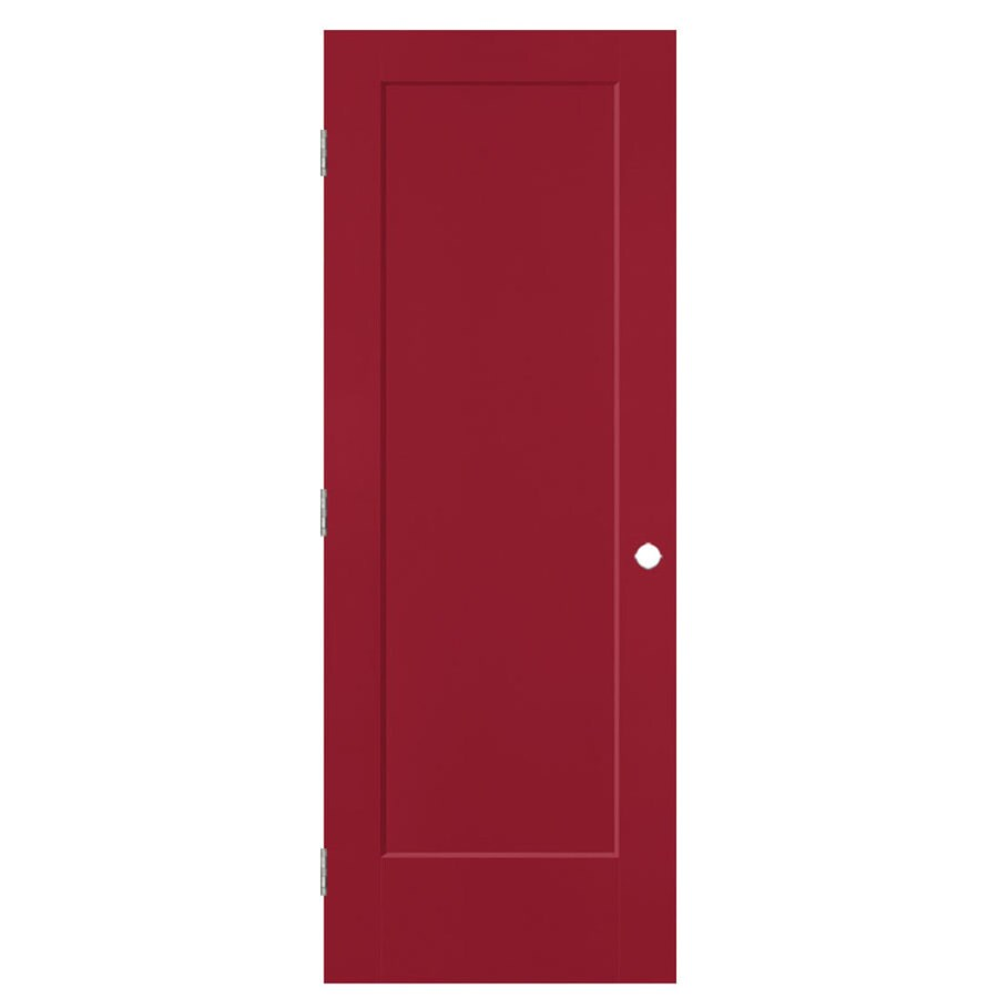Masonite Heritage Barn Red Hollow Core Molded Composite Prehung Interior Door (Common: 32-in x 80-in; Actual: 33.5-in x 81.5-in)