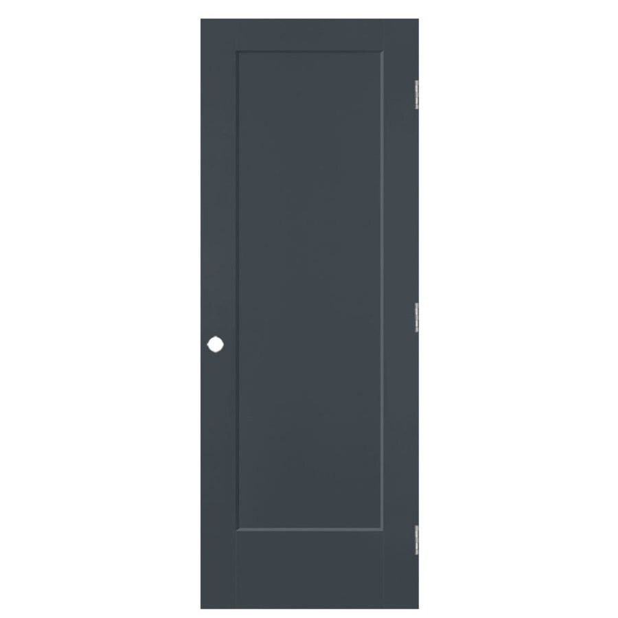 Masonite Lincoln Park Slate Hollow Core Molded Composite Single Prehung Interior Door with Hardware (Common: 28-in x 80-in; Actual: 29.5-in x 81.5-in)